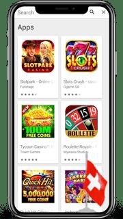 Casino Apps für die Schweiz