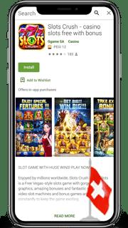 Apps mit Slots für ein Mobiltelefon